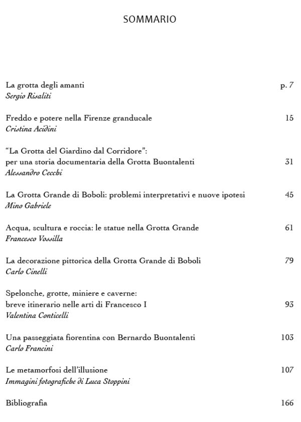Sommario_Bernardo Buontalenti e la Grotta Grande di Boboli_maschietto