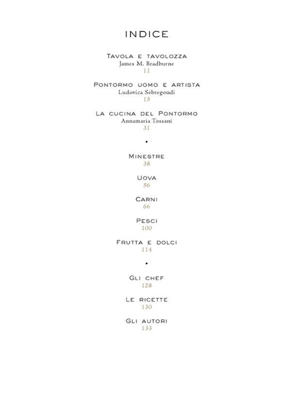 Sommario_La tavola del Pontormo. Ricette di grandi chef, ingredienti senza tempo e suggestioni d'arte._maschiettojpg