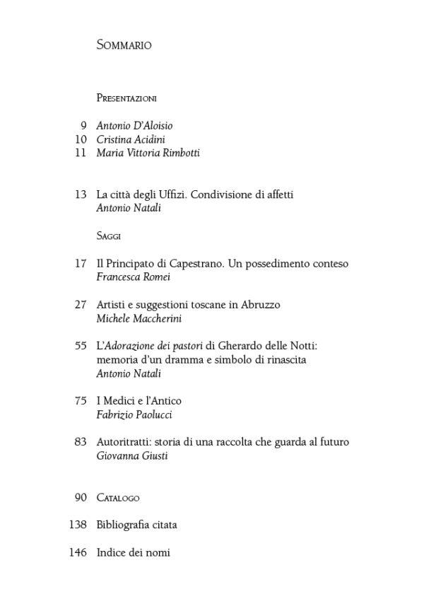 Sommario_Condivisione di affetti. Firenze e Santo Stefano di Sessanio. Opere d'arte dalla Galleria degli Uffizi_maschietto
