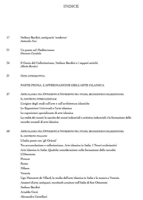 Sommario_Una miniera inesauribile. Collezionisti e antiquari di arte islamica. L'Italia e il contesto internazionale tra Ottocento e Novecento1_maschietto